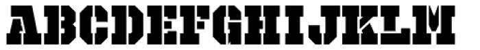 Octin Prison Black Font UPPERCASE