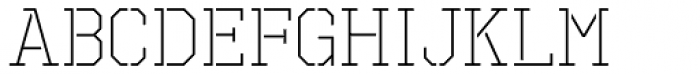 Octin Prison Light Font LOWERCASE