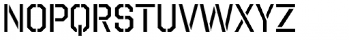 Octin Stencil Regular Font LOWERCASE