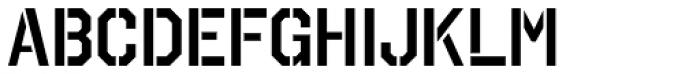 Octin Stencil SemiBold Font UPPERCASE