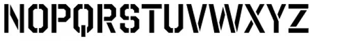 Octin Stencil SemiBold Font LOWERCASE
