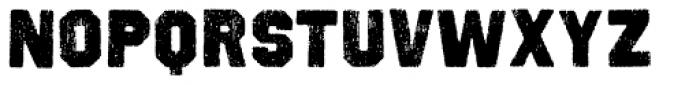 Octin Vintage A Black Font UPPERCASE