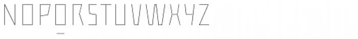 ocr-t 01 Ultrawhite Font UPPERCASE
