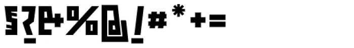 ocr-t 10 Jetblack Font OTHER CHARS