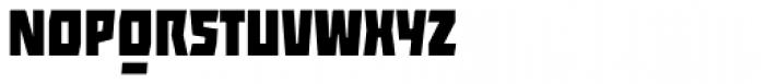 ocr-t 10 Jetblack Font UPPERCASE