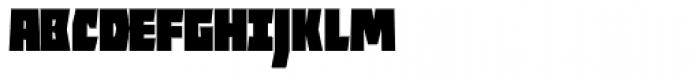 ocr-t 11 Infrablack Font UPPERCASE