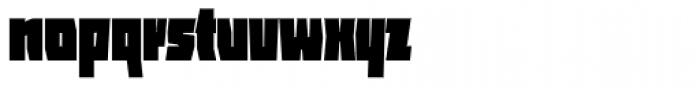 ocr-t 11 Infrablack Font LOWERCASE