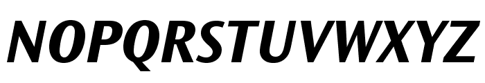 OceanSansStd-BoldIta Font UPPERCASE