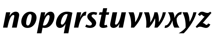 OceanSansStd-BoldSemiExtIta Font LOWERCASE