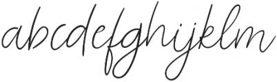 Odour Regular otf (400) Font LOWERCASE