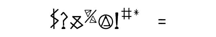 ODINS SPEAR Font OTHER CHARS