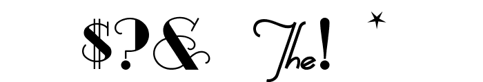 Odalisque Font OTHER CHARS