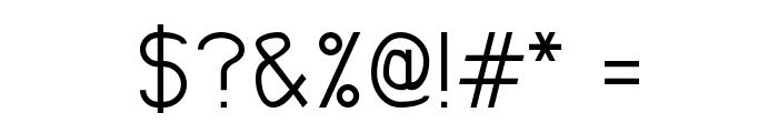 Odd Modern Font OTHER CHARS