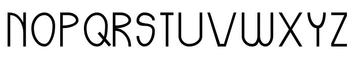Odd Modern Font UPPERCASE