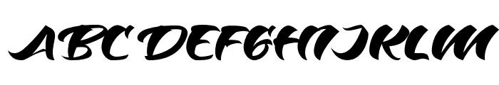 Odenson Regular Font UPPERCASE