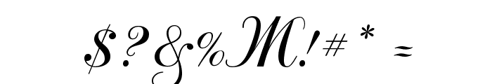 Odessa Script Font OTHER CHARS