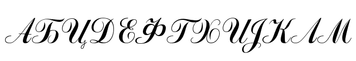 Odessa Script Font UPPERCASE
