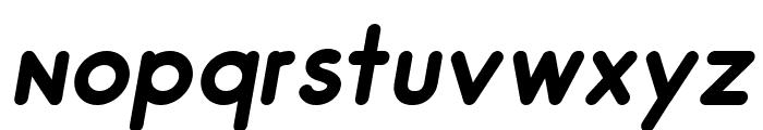 Odin Rounded Bold Italic Font LOWERCASE