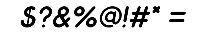 Odin Rounded Regular Italic Font OTHER CHARS