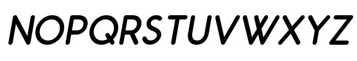 Odin Rounded Regular Italic Font UPPERCASE