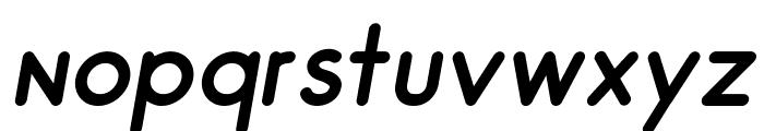 Odin Rounded Regular Italic Font LOWERCASE