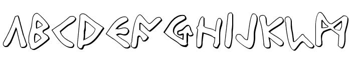 Odinson Outline Font UPPERCASE