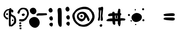 Odisea Astral Hacia Gan?medes Font OTHER CHARS