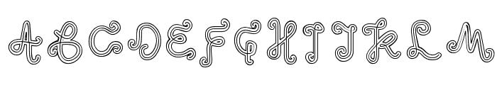 odd ethnic Font UPPERCASE