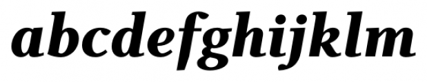 Odile Black Italic Font LOWERCASE