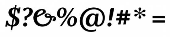 Odile Bold Italic Font OTHER CHARS