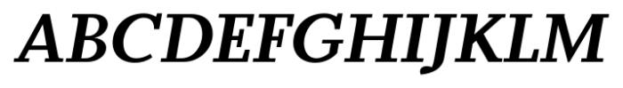 Odile Bold Italic Font UPPERCASE