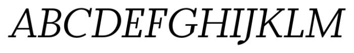 Odile Book Italic Font UPPERCASE