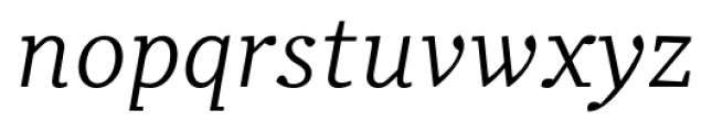 Odile Book Italic Font LOWERCASE