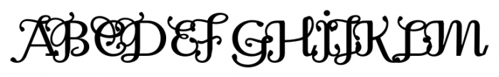 Odile Deco Initials Font UPPERCASE