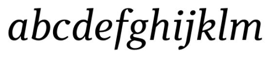 Odile Italic Font LOWERCASE