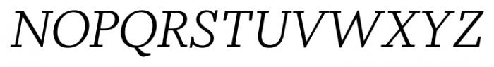 Odile Light Italic Font UPPERCASE
