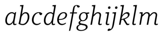 Odile Light Italic Font LOWERCASE