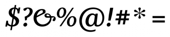 Odile Semi Bold Italic Font OTHER CHARS