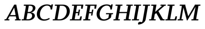 Odile Semi Bold Italic Font UPPERCASE