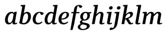 Odile Semi Bold Italic Font LOWERCASE