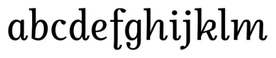 Odile Upright Italic Font LOWERCASE