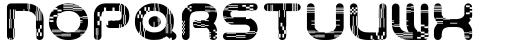 Odaiba Soul Glitch Font LOWERCASE