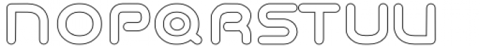 Odaiba Soul Hollow Font UPPERCASE