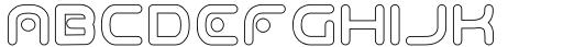 Odaiba Soul Hollow Font LOWERCASE