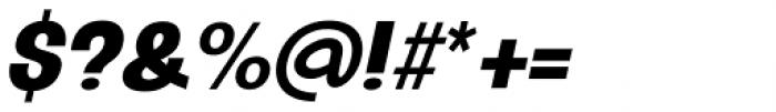 Oddlini Black Ex Condensed Ut Obli Font OTHER CHARS
