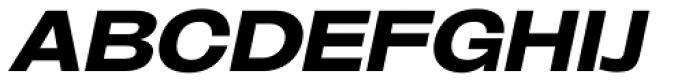 Oddlini Black Ex Expd Ut Obli Font UPPERCASE