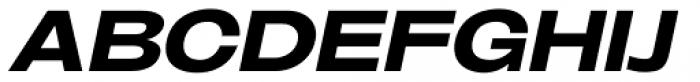 Oddlini Black Ut Expd Ut Obli Font UPPERCASE