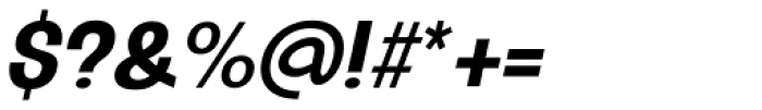 Oddlini Bold Ex Condensed Ut Obli Font OTHER CHARS