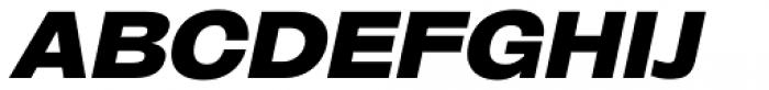 Oddlini Extra Black Expd Ut Obli Font UPPERCASE