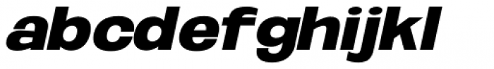 Oddlini Extra Black Expd Ut Obli Font LOWERCASE